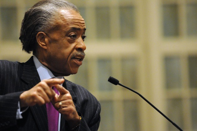 The Rev. Al Sharpton speats at a voting rally at Providence Missionary Baptist Church in Atlanta on Thursday, Feb. 23, 2012. Sharpton's visit was a preview of his scheduled march and rally next month, to raise awareness for the upcoming anniversary of