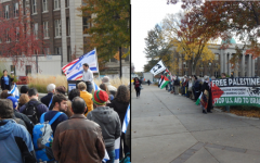 Students for Justice in Palestine Protest Pro-Israeli Peace Rally