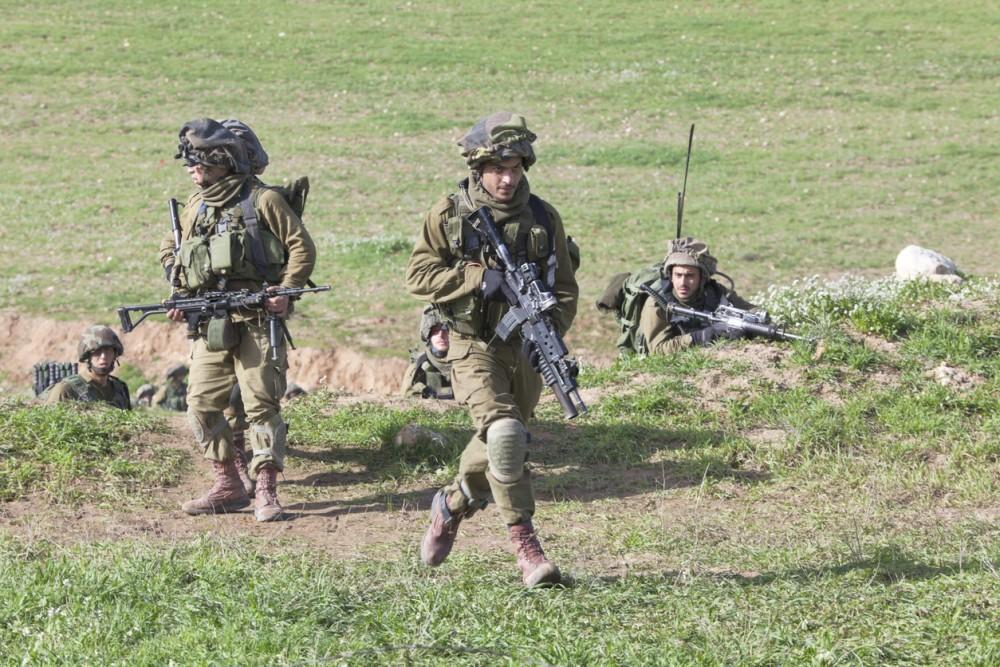 Israel - February 09, 2012; Israeli Paratroopers brigade during training .Israel Defense Forces