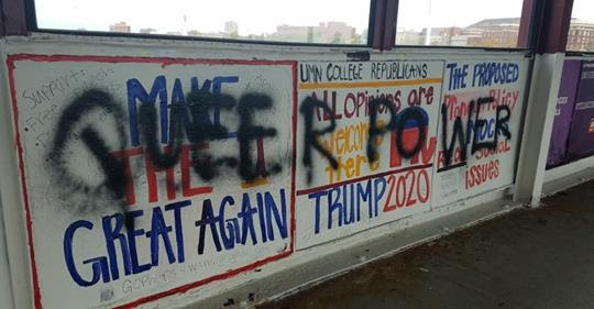 Vandals Strike Against Free Speech