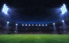 grand sport building digital 3D background advertisement background illustration