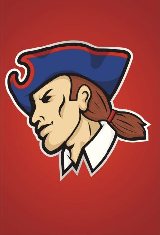 Vector illustration of a Patriot or Minute Man sports mascot