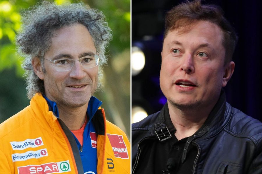 Palantir CEO, Alexander Karp, shown next to fellow tech guru and Tesla CEO, Elon Musk.